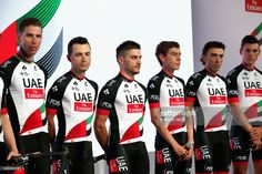 #UAETeamEmirates Team Emirates pose for a picture during the UAE Team Emirates Media Launch at Crowne Plaza Yas Island on February 21, 2017 in Abu Dhabi, United Arab Emirates.