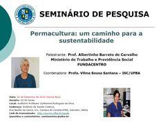 """Eli Fernandes: """"Permacultura: um caminho para a sustentabilidade""""..."""