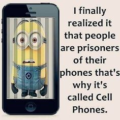 The Things You Must Know About Cell Phones. Cell phones features vary from phone to phone. Just about everyone uses these phones, but many fail to grasp all of their potential. Cute Minion Quotes, Cute Minions, Funny Minion Memes, Minions Quotes, Cute Quotes, Minion Sayings, Funny Sayings, Funny Picture Quotes, Funny Photos
