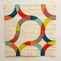 """Very creative use of the """"January Block"""" by Liz Harvatine of Lady Harvatine Quilts. Pattern available for $4 here: http://ladyharvatine.bigcartel.com/product/january-block"""