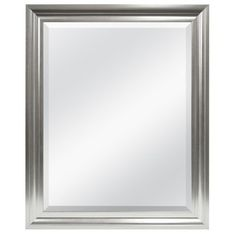 This contemporary mirror has a champagne frame with just a hint of brushed cream. Perfect for a small powder room or any room in home or office. Made in America with plate glass, rather than import float glass, which has no imperfections, will not streak over time and has a sharp, clear image which gives off a dazzling affect.