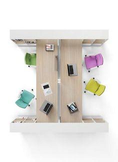 Framework desks an colourful chairs!