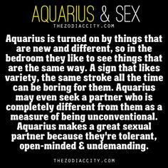 Zodiac Files: Aquarius and Sex.