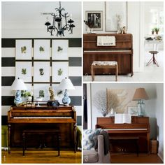 In our old house we had two baby grand pianos, one in our living room and one in our dining room. One was a player piano, so even if someone wasn't around t