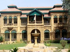 The Quaid-e-Azam House and Museum, Karachi, Pakistan colonial architecture Pakistan Zindabad, Pakistan Travel, Great Buildings And Structures, The Beautiful Country, Beautiful Places, Flagstaff House, Regions Of Europe, Colonial Architecture, Places