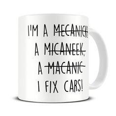 Mechanic Gifts - Mechanic Mug - Funny Mechanic Spelling Gift Mug MG459