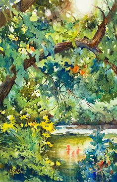 Quiet Solace by Laurel Hart Watercolor ~  x