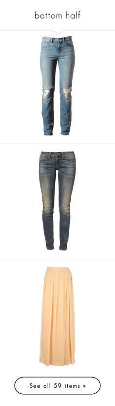 """""""bottom half"""" by summer-chicka ❤ liked on Polyvore featuring jeans, pants, bottoms, trousers, destroyed boyfriend jeans, distressed denim jeans, ripped boyfriend jeans, denim boyfriend jeans, distressed boyfriend jeans and calças"""