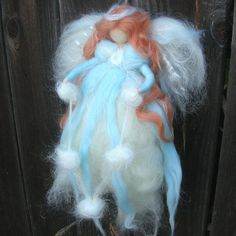 Wool Angel  Ethereal Winter Fairy Need Felted by by Nushkie, $48.00