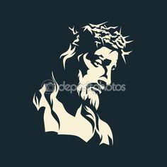 Jezusa. Koronę z cierni. Wyciągnąć rękę — Ilustracja stockowa #87987110