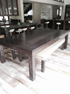 This is sucha cool idea,pool table and dining table all in one www ...