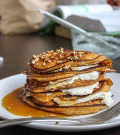 ricotta stuffed sweet potato pancakes