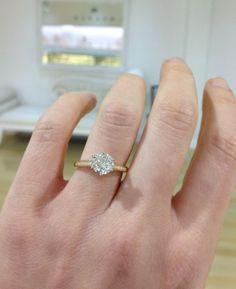 Kalfin 6 claw Round brilliant Diamond Engagement Ring by Kalfin