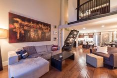 Swanky double height loft in the Mecca, Vancouver: Skull Loft