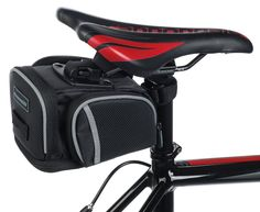 Under Seat Bike Bag By Geared2U - 4 Compartment & Pocket Bicycle Saddle Bag To Carry All Your Important Accessories For Cycling Or Work - No Risk Lifetime Warranty | Amazon.com