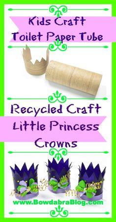 Kids Craft: Little Princess Crowns #idea, #kidscrafts