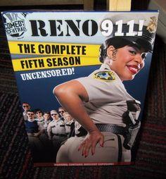 RENO 911: THE COMPLETE FIFTH SEASON UNCENSORED 3-DISC DVD SET, SEASON 5, EUC