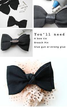 Lotts and Lots | Making the everyday beautiful: DIY - Bow Tie Brooch
