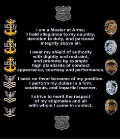 Master at Arms is the rating I want to hold in the Navy. Military Girlfriend, Navy Military, Military Life, Military Quotes, Military Humor, Navy Mom, Us Navy, Retirement Party Gifts, My Future Job