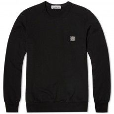 Stone Island Garment Dyed Patch Logo Crew Sweat $169 endclothing