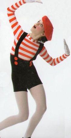 Moment De Silence Dance Costume Biketard Tap Mime Adult XXL & Child XS Clearance #Cicci
