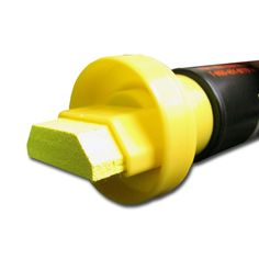 """Giant 1 1/4"""" Tip Neon Yellow Car Glass Marker. You can use these bright NeoMarker waterproof pens on a variety of surfaces, including acrylic boards, glass, stone, metal, plastic and most any other smooth surface."""
