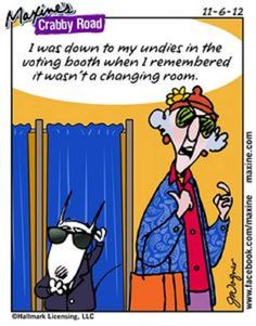 Maxine on voting