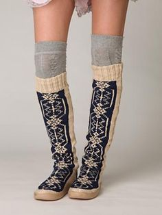 Gretta Over the Knee Slipper Sock. Might need a pair of these for walking around the studio! And great for keeping your legs warm after a hot yoga class!