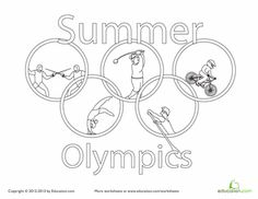 Worksheets: Summer Olympics Coloring Page