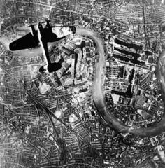 German bomber over the island