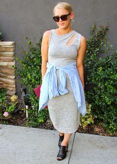 Aritzia Wilfred Free midi dress #fallforus