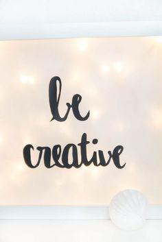 be creative beleuchteter Bilderrahmen