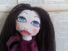 Poupette Apollonia OOAK cloth doll rag doll bambola di Poupettes, €72.00