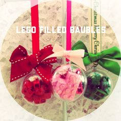 Lego filled baubles - The Supermums Craft Fair