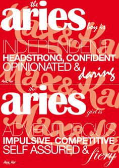 DIY INSTANT PRINTABLE  Astrology Aries cards by maxandkai on Etsy, 99c
