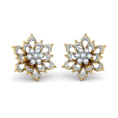 The Caribou Earrings Diamond Earring In 18Kt Yellow Gold