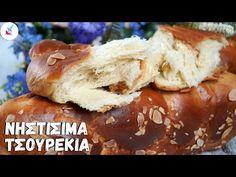 Νηστισιμα Τσουρεκια με Ινες Συνταγη για το ΠΙΟ Αφρατο Τσουρεκι Τελειο Τσουρεκι Αφρατο Χωρις Μυστικα - YouTube Hot Dog Buns, Hot Dogs, Caramel Apples, Sweet Recipes, French Toast, Sweets, Bread, Breakfast, Desserts