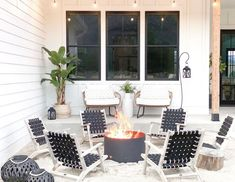 Create an Urban Utopia with Jereme + Maloni Designs All White Room, White Rooms, White Furniture, Outdoor Furniture Sets, Outdoor Decor, Brick Style Tiles, Wooden Beams Ceiling, Black And White Artwork, Fire Pit Designs