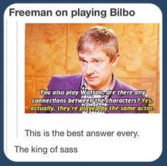 Hahaha  Martin Freeman is hilarious.
