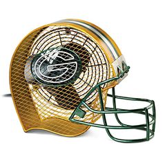 Green Bay Packers Football Helmet Electric Fan