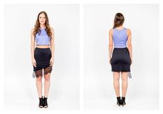 PARADOX SS15 'Details' Collection Blue crop top - 9000HUF Black skirt w/ lace - 17.000HUF