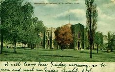 This was located at Second and Lindsley in South Nashville and covered city blocks between Lindsley (South Market street) and Middleton. Although, only one of the University buildings remains today and houses metro offices (the one shown in your photograph) there were two other dorm buildings on campus