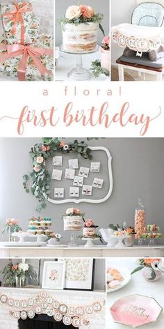 Floral, Rifle Paper Co Inspired First Birthday Party (from 12th and White)
