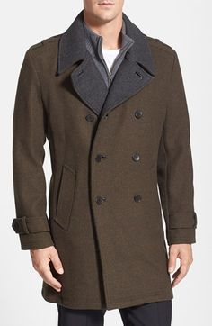 Cole Haan Wool Blend Coat available at #Nordstrom