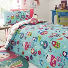 Butterfly Home by Matthew Williamson Kids' blue 'Russian Doll' print duvet cover…