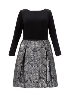 Rent Tyler Dress by Theia for $100 only at Rent the Runway. (STASH: black ponte for the top - pink plaid for skirt? Christmas dress! Will need zipper.)