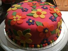 Flower Power cake so pretty