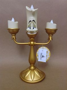 "Disney Beauty And The Beast ""Lumiere"" Light Up Candelabra.. Perfect for Ellie's princess room!!!!"