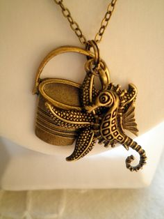 Summer Rockpooking  Antiqued Bronze Charm Necklace by ihcharms