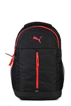 0aef808ec400 Puma Puma Black and Poppy Red Laptop Backpack (7554704)